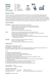 Sales Manager Resume Template Interesting Sales Manager CV Example Free CV Template Sales Management Jobs