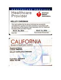 Certificate And Rn License Bls