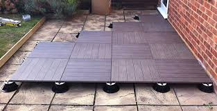 transforming uneven patio slabs with