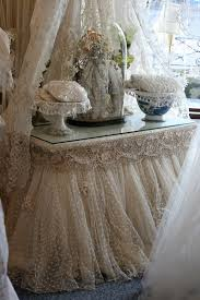 dressing table with lace skirt