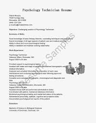 Gallery Of Resume Samples Psychology Technician Resume Sample