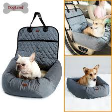 multi function pet booster bed deluxe dog pet car seat cover bed lounge pet car