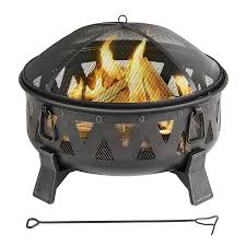 wood burning patio fire pits. Garden Treasures 29.92-in W Antique Black Steel Wood-Burning Fire Pit Wood Burning Patio Pits I