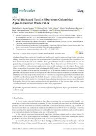 Pdf Novel Biobased Textile Fiber From Colombian Agro