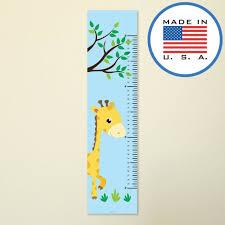 321done Giraffe Growth Chart With Tree Kids Height Ruler Premium Vinyl Nursery