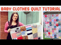 how to make a baby clothes memory quilt