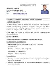 Career Objective For Mechanical Engineer Resume Electrical Engineer Career Objective Andone Brianstern Co
