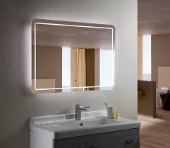 Hotel Bathroom Lighted Mirror Bellagio Ii Backlit Mirror Led Bathroom Mirror Horizontal