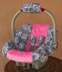 minky infant car seat cover best seats images on babies stuff baby girl paisley with hot pink dot covers