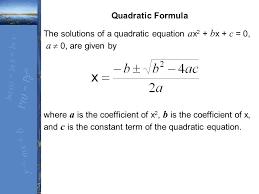 the solutions of a quadratic equation ax2 bx c 0