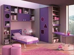 Sensational Purple Choose Bedroom Colors In Girl Room With Purple Bed And  Round Pink Ottomans