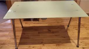 ikea galant glass desk on