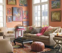 Warm Decorating Living Rooms Ethnic Warm Living Room Design