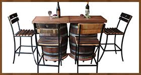 furniture made from barrels. solid wood wine barrel bar furniture made from barrels