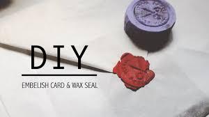 rustic greeting card diy wax seal