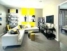 grey blue yellow living room and ideas brown