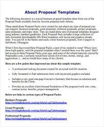 Professional Business Proposals Business E Mail Format Free Premium Templates
