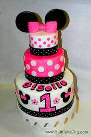 Pink And Black Minnie Mouse Decorations Salt Cake City Pink Polka Mouse