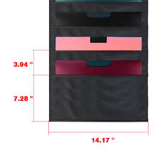 Storage Pocket Chart Wall Hanging File Organizer Folder With 10 Large Pockets For Office Home School Studio Etc 14 X 47 Inch Black Mountings