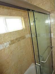 installing sliding shower doors 3 8 glass sliding bi pass shower door