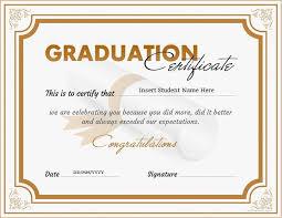 Certificates Incredible Graduation Certificate Templates