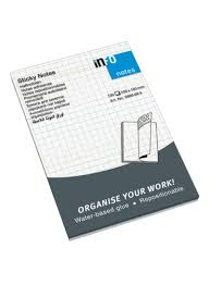 Shop Info 12 Piece Graph Paper Sticky Notes 100 Sheets