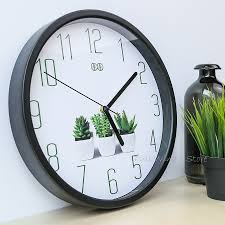 office wall clocks large. Brief Small Fresh Home Wall Clock Green Plant Logo Creative Office Clock-in Clocks From \u0026 Garden On Aliexpress.com | Alibaba Group Large