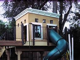 Outdoor Treeless Treehouse Plans  How To Build A Simple Kids Treehouse Design