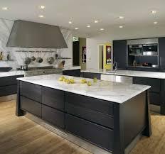enthralling modern kitchens. Enthralling Cool Kitchen Worktops White Granite Fitting With Black Painted Storage Modern Kitchens G