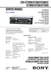 sony cdx gt350 manuals sony cdx gt350 service manual
