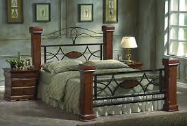 mahogany bed frame. Brilliant Mahogany Image Is Loading NewKingSizeBedFrameMetalampOak To Mahogany Bed Frame D