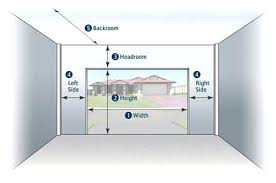 one car garage door size mering diagram