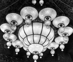 1926 close up view of the light fixture on the ceiling of the shrine auditorium