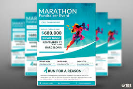 fundraiser flyer templates teamtractemplate s bies marathon fundraiser flyer psd templates store kbsh0d4b