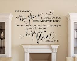 for i know the plans i have for you verses wall decals