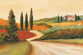 landscape painting rural italian landscape ii by leigh banks