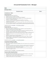 Performance Appraisal Sample Form 8 Self Evaluation Sample Forms Free Example Format Download
