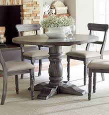 progressive furniture muses dove grey round dining table the classy home