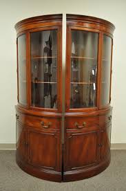 glass form furniture. pair of 1940s curved glass demilune form mahogany corner china cabinets 2 furniture