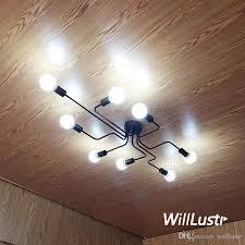 2018 willr metal ceiling lamp vintage wrought iron light loft america industrial lighting creeper spider shape multi heads semi flushmounts from