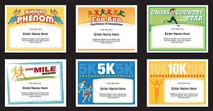 Fun Run Certificate Template Running Certificates Templates Runner Awards Cross Country