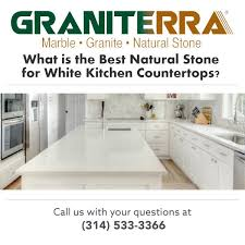 what is the best natural stone for white kitchen countertops