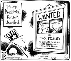 Image result for cartoon of Trump family tax fraud