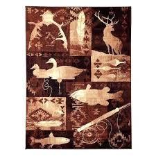 deer rug outstanding lodge area rugs rugs the home depot with regard to deer area rug