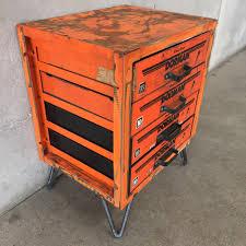 orange dorman industrial end table – urbanamericana