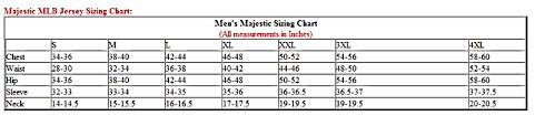 Majestic Jacket Size Chart Mlb Jerseys By Majestic Arts Pro Sports Apparel
