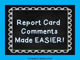 report card comments made easy tpt bies  classroom management