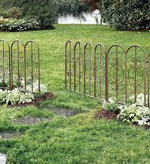 montebello outdoor decorative garden fence set of 4 iron fencing in metal 53648243490