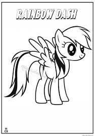Little Pony Coloring Pages Printable - Coloring Home