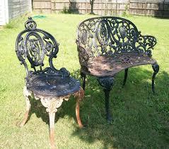 black iron furniture. How To Paint Cast Iron Furniture Black U